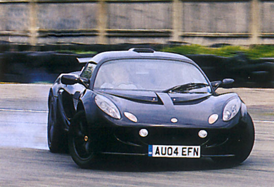 a race-speced Lotus Elise